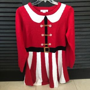 Macy's Planet Gold Christmas Ugly Dress